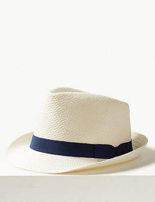 M&S Collection Hopsack Trilby Hat
