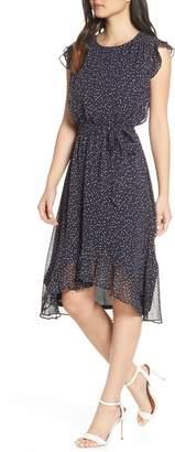 19 Cooper Polka Dot Ruffle Sleeve Chiffon Dress
