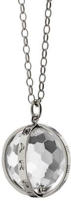 """Monica Rich Kosann Extra Large Silver Carpe Diem Pendant Necklace, 30""""L"""