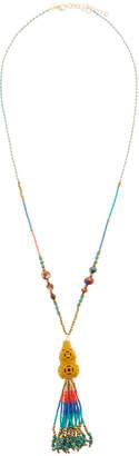 Panacea Seed Bead Tassel Pendant Necklace