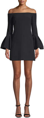 Alexis Off-The-Shoulder Bell Sleeve Dress