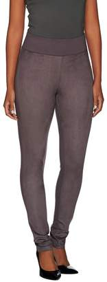 Logo By Lori Goldstein LOGO by Lori Goldstein Ponte Knit Pants with Faux Suede Front