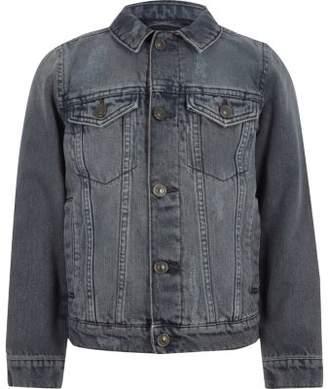 River Island Boys mid grey denim jacket