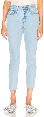 GRLFRND Karolina High Rise Skinny Crop in High Hopes | FWRD