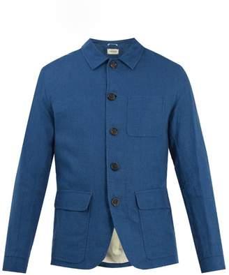 Oliver Spencer Cowboy patch-pocket linen jacket