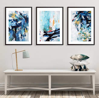 Abstract House Modern Abstract Wall Art Large Set Of Three Art Prints