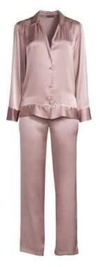 Natori Josie Two-Piece Silk Pajama Set