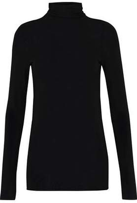 Enza Costa Stretch-Knit Turtleneck Top