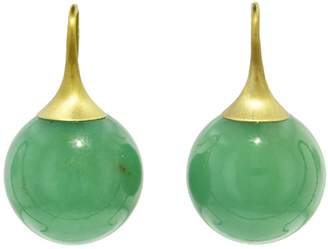 Irene Neuwirth 16mm Chrysoprase Sphere Earrings - Yellow Gold