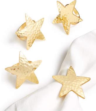Bardwil Star Bright Set of 4 Napkin Rings