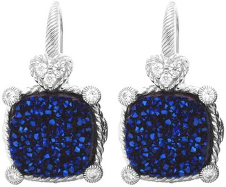 Judith Ripka Sterling Drusy Diamonique Earrings