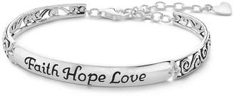 JCPenney FINE JEWELRY Inspired Moments Silver Faith, Hope, Love Bracelet