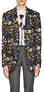 R 13 Women's Summer Floral Cotton Blazer - Black