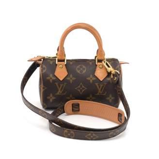 Louis Vuitton Vintage Nano Speedy / Mini HL Brown Cloth Handbag