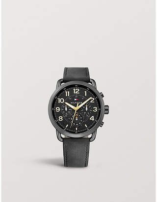 Tommy Hilfiger 1791426 Briggs ion-plated stainless steel leather strap watch
