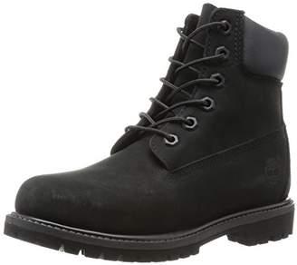 Timberland 6 in Premium Women's High Rise Hiking Boot, Black (Black), 6. (.5 EU)