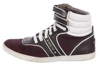 Sergio Rossi High-Top Sneakers plum High-Top Sneakers