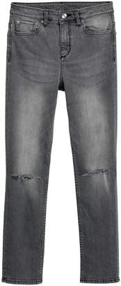H&M Slim High Ripped Jeans - Black
