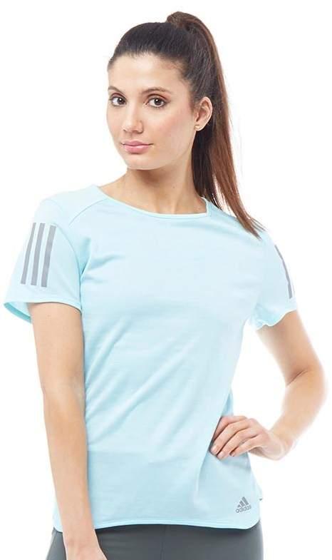 Damen Response T-Shirt Lekki Niebieski