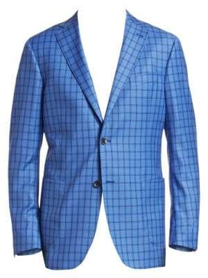 Saks Fifth Avenue COLLECTION Classic-Fit Checkered Wool Sportcoat