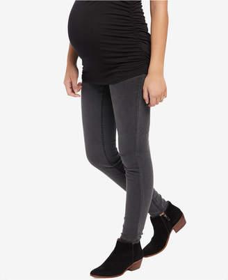 Motherhood Maternity Gray Wash Skinny Jeans