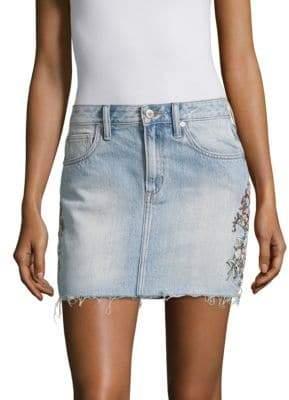 Tularosa Aubrey Denim Mini Skirt