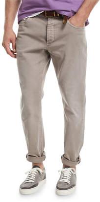 Brunello Cucinelli Leisure-Fit Straight-Leg Denim Jeans