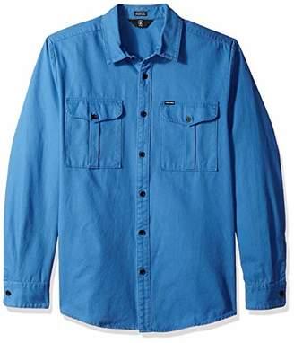 Volcom Men's Huckster Modern Fit Woven Long Sleeve Button up Shirt