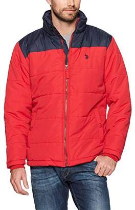 U.S. Polo Assn. Mens Standard Puffer Jacket With Poly Lining