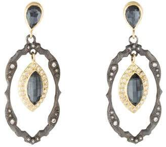 Armenta Quartz Doublet & Diamond Drop Earrings