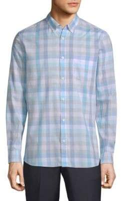 Calvin Klein Washed-Plaid Pocket Shirt