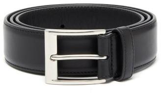 Bottega Veneta Buckled Leather Belt - Mens - Black