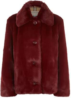 Burberry Faux Fur Jacket