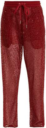 Ashish Straight-leg bead and sequin-embellished trousers
