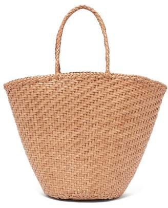Dragon Optical Diffusion - Myra Woven Leather Basket Bag - Womens - Beige