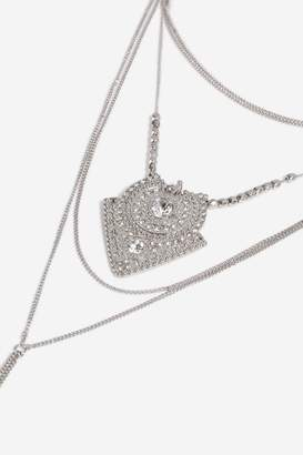 Topshop Rhinestone Lariat Necklace