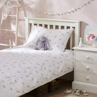 The White Company Fairy Easycare Bed Linen Set, White, Cot Bed