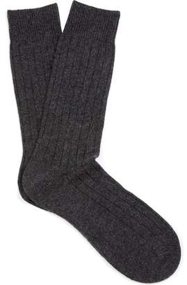 Pantherella Waddington Cashmere Blend Socks - Mens - Charcoal