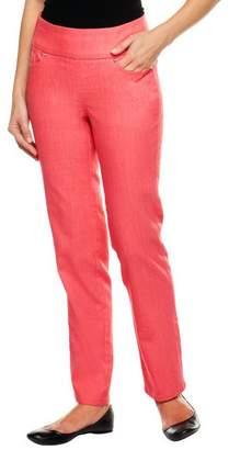 Denim & Co. Petite Perfect Denim Smooth Waist Straight Leg Jeans
