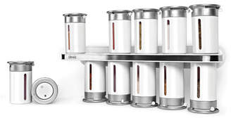 Zevro Zero Gravity Wall-Mount Magnetic Spice Rack 12 Canisters