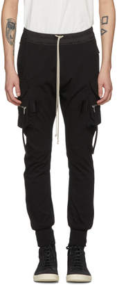 Rick Owens Black Cotton Jog Cargo Pants