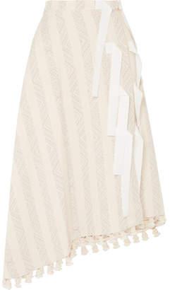 Altuzarra Basilica 罗缎边饰带穗饰棉质混纺提花半身裙