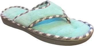 Dearfoams Women's Memory Foam Flip-Flop Terry Thong Sandals (Small/5-6 B(M) US, )
