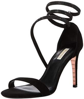 Dune Women's Mylie Open Toe Sandals, Black Suede, 5 (38 EU)