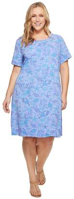 Extra Fresh by Fresh Produce Plus Size Sea Life Sadie Dress Women's Dress