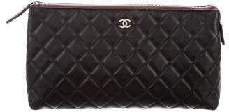 Chanel Quilted Cosmetic Case