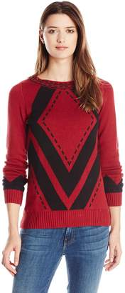 Heather B Women's Diamond Pattern Pullover
