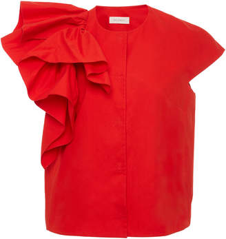 DELPOZO Ruffled Cotton Vest