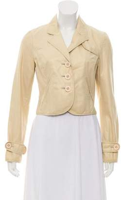 Elizabeth and James Peak Lapel Cropped Blazer Gold Peak Lapel Cropped Blazer