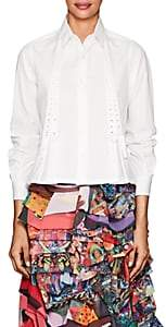 Noir Kei Ninomiya Women's Cotton Poplin Lace-Up Blouse - White